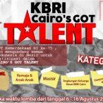 KBRI CAIRO GOT TALENT'S MEMPERINGATI HARI KEMERDEKAAN RI KE 75